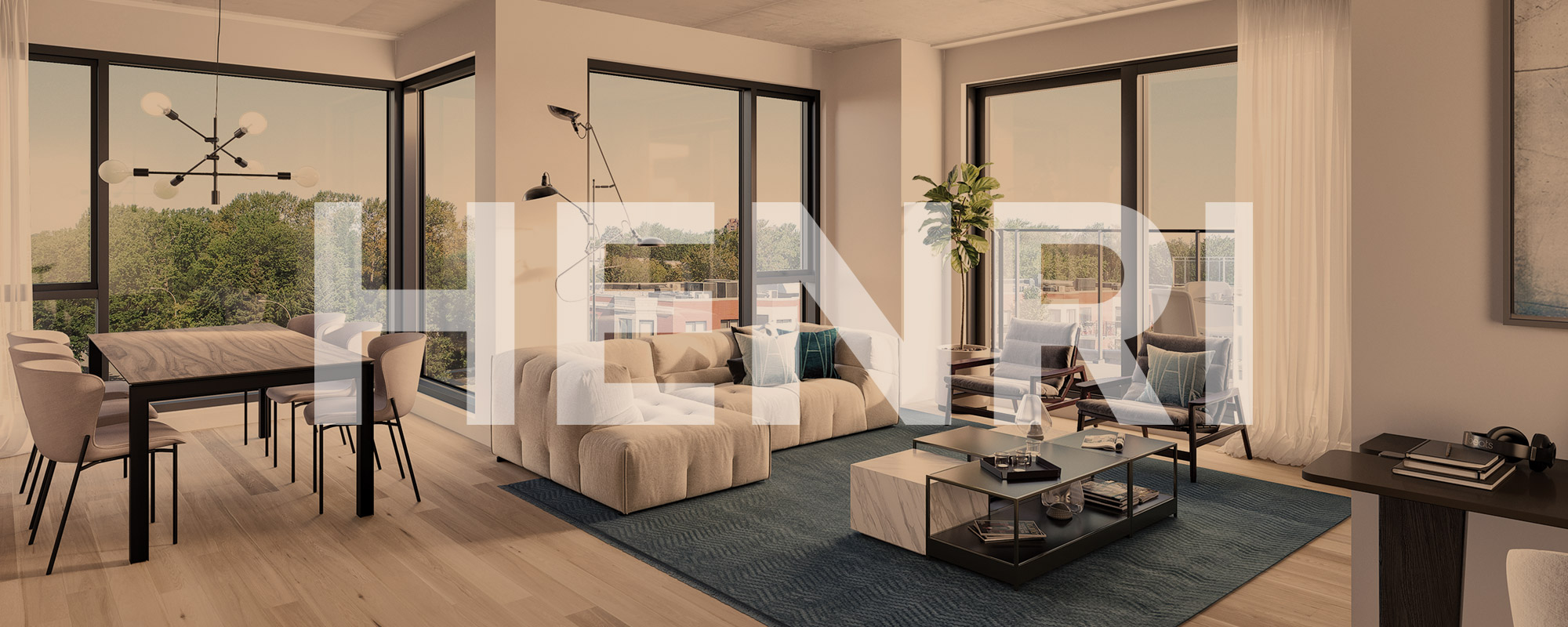 View of a penthouse of the real estate project Henri B.
