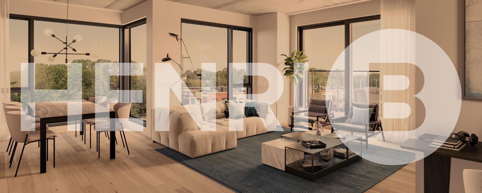 Vue d'un penthouse du projet immobilier Henri B.