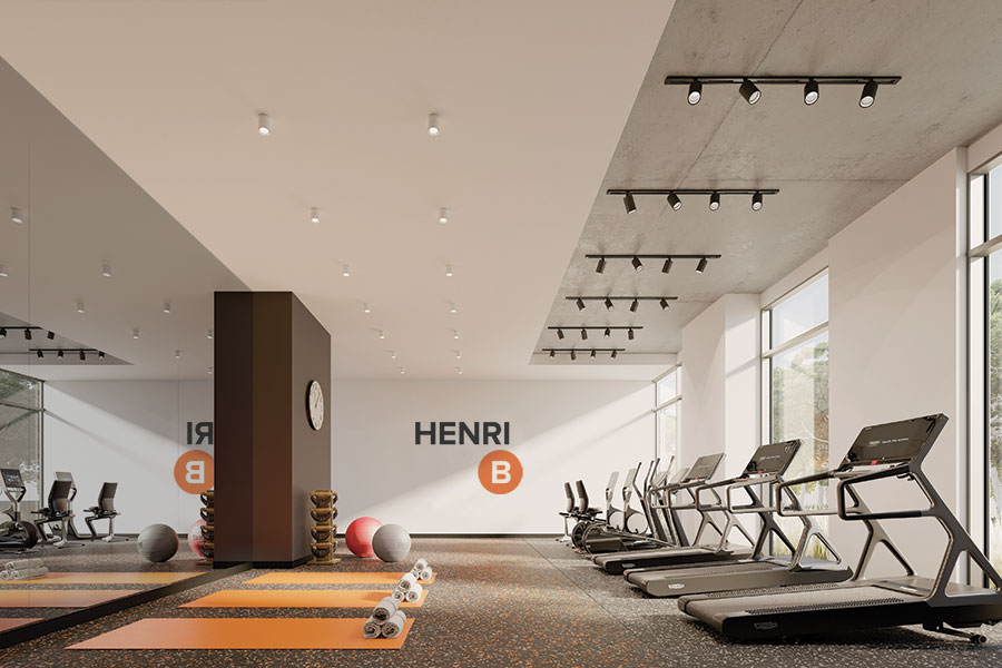Exercise room on the ground floor
